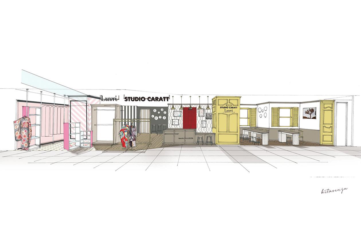 北千住マルイ内にスタジオキャラット・ラブリの新店がオープン